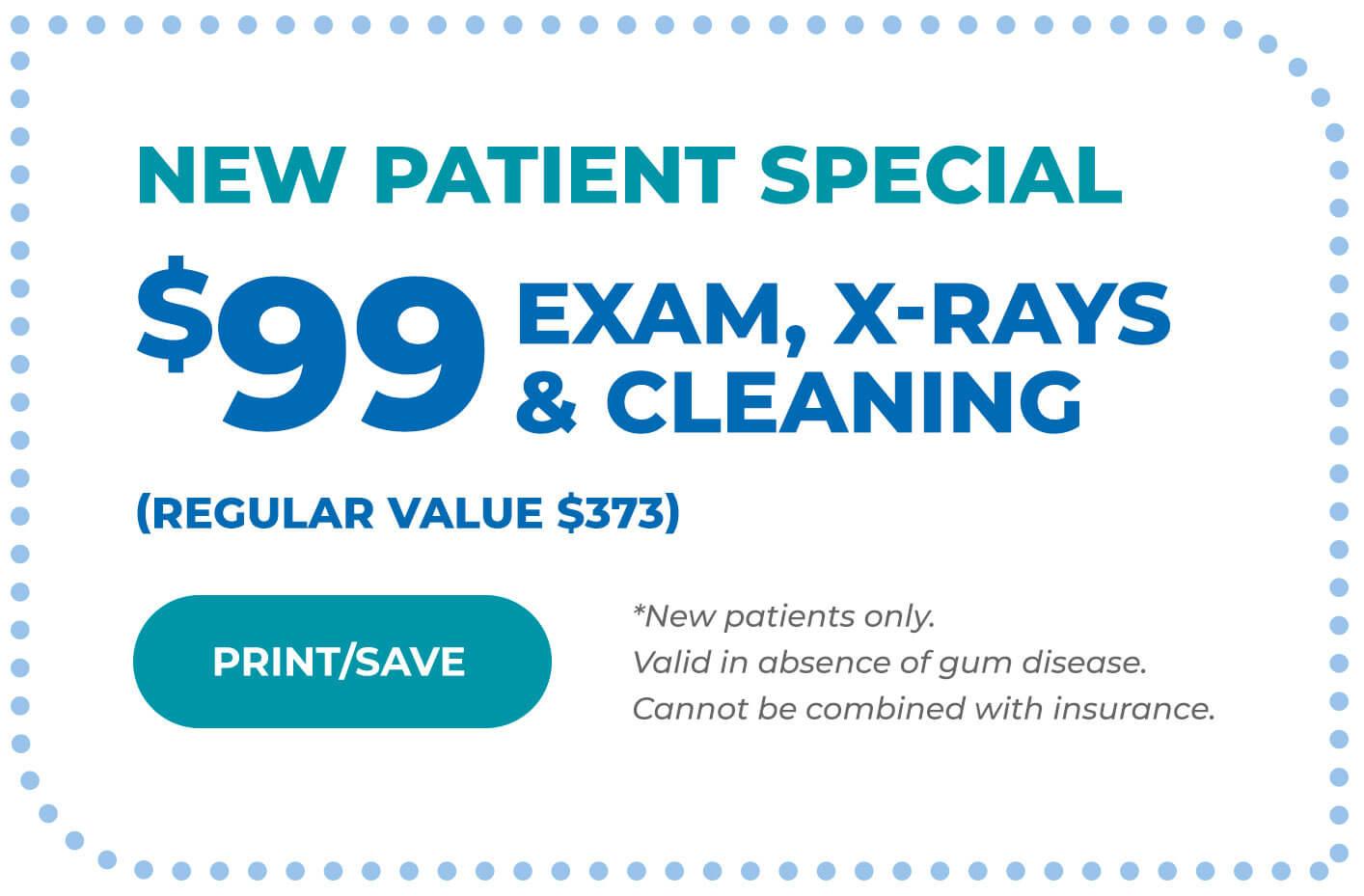 new patient specials